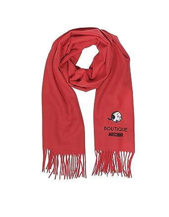 Boutique Moschino Femme 30309M13448 Rouge Laine Écharpe  Amazon.fr ... 679b8f1395d8