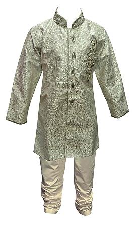 Pakistani Boys Brocade Sherwani For Bollywood Theme Party Indian Wedding Online Shop UK 878