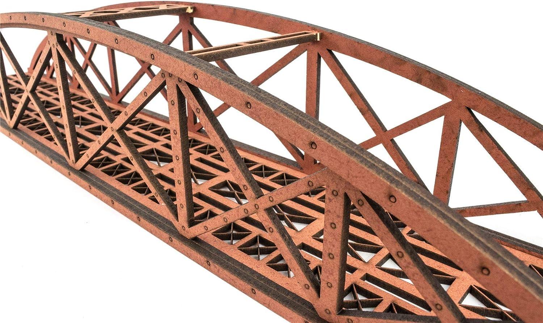 Spur 00//H0 MDF Modellbahn Modellbau Landschaft Gel/ände War World Scenics Zweispurige Hoch-Detail Stabbogenbr/ücke 400mm