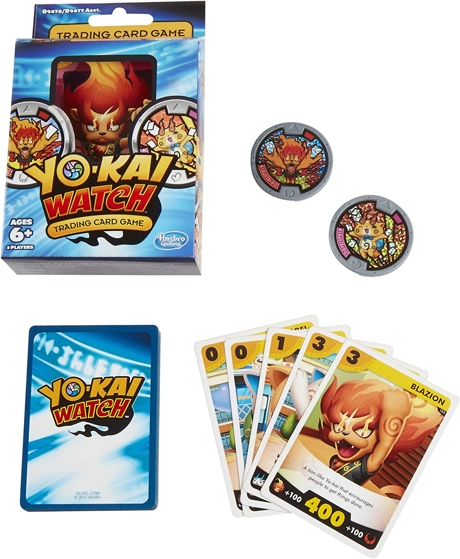 Amazon Com Yo Kai Watch Trading Card Game Blazion And Komajiro Starter Pack Toys Games