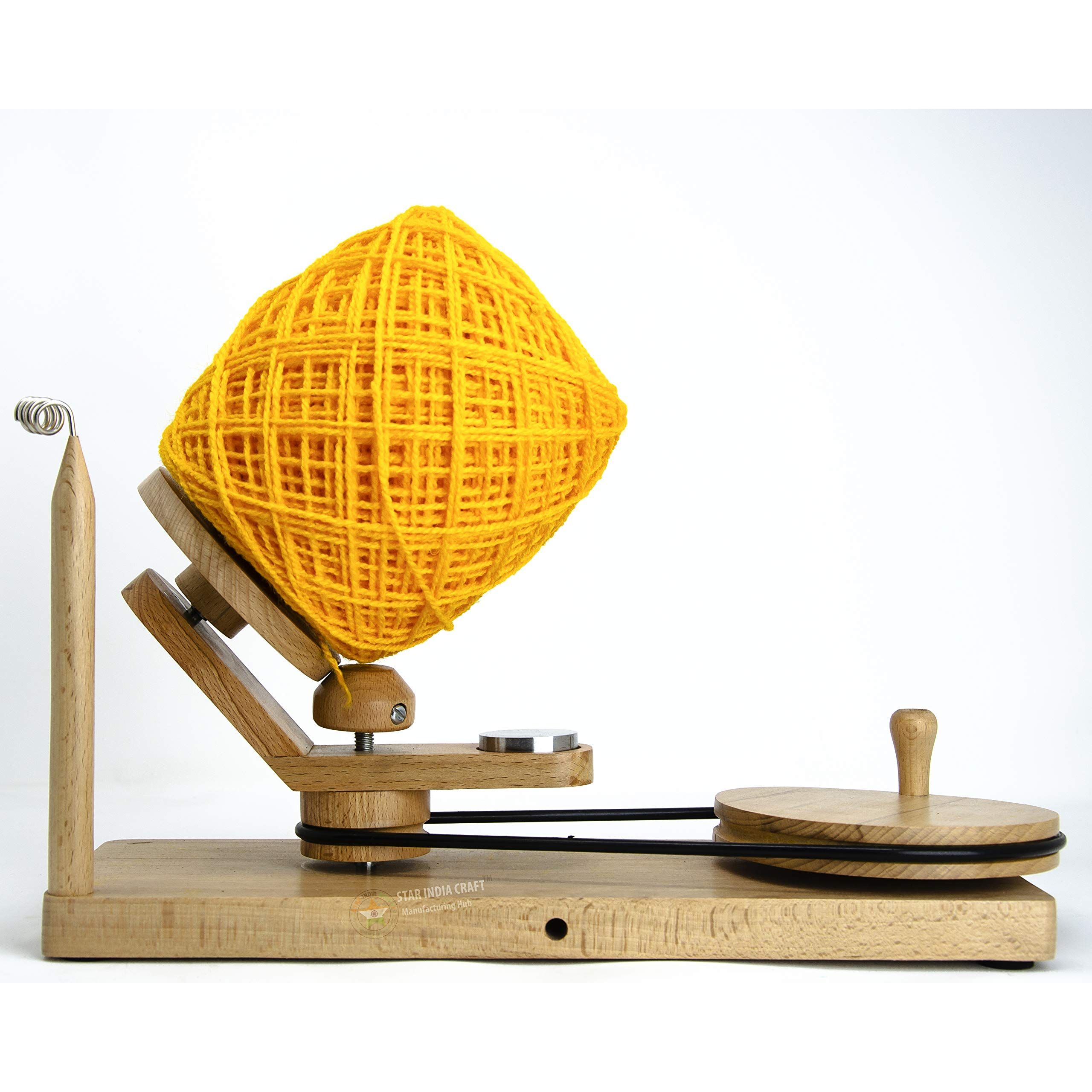 STAR INDIA CRAFT Handmade Center Pull Yarn Ball Winder - Natural Yarn Winder | Perfect DIY Knitter's Gifts for Knitting and Crocheting | Handcrafted Ball Winder (Yarn Winder, Standard) by STAR INDIA CRAFT (Image #9)