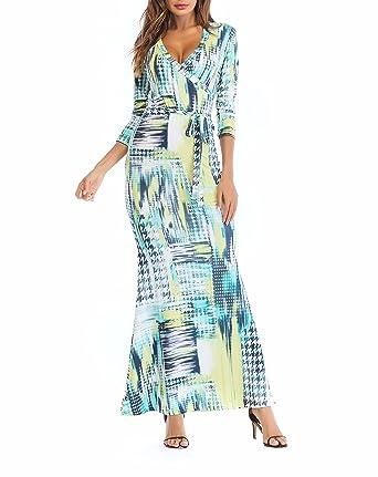 e76561567a642e SUNNOW Womens Sexy Ladies Deep V Neck Party Dress Maxi Long Evening Dress  (Asian S