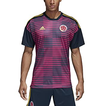 adidas 2018-2019 Colombia Pre-Match Football Soccer T-Shirt Jersey (Pink