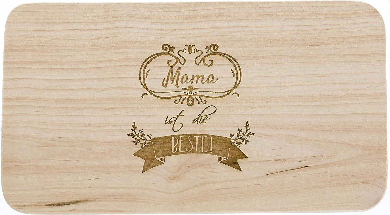 Mama est la Meilleure f/ête des m/ères Planche /à Pain en Bois Erle id/ée Cadeau pour Maman Planche /à d/écouper en Bois Cadeau pour Femme
