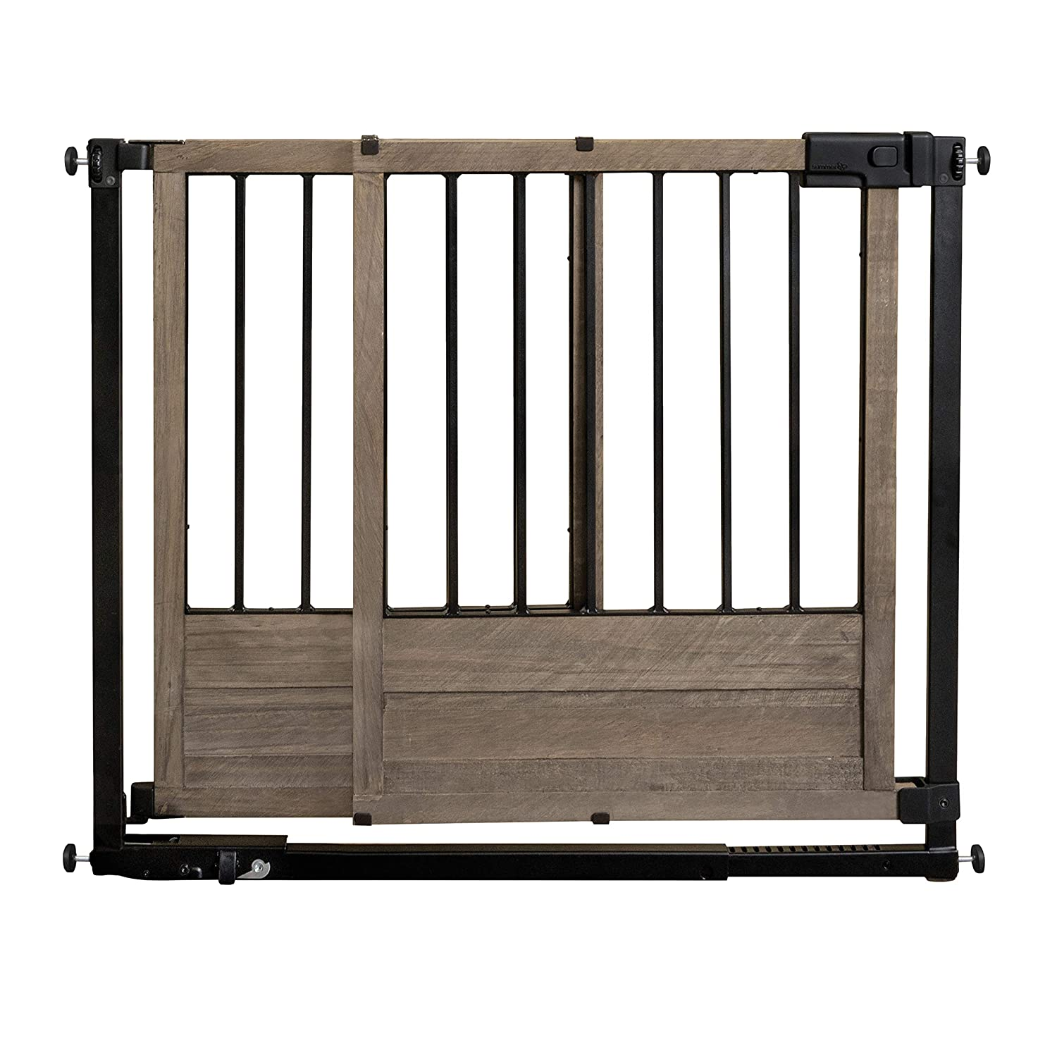 "Summer Rustic Home Safety Gate, 29"" - 42"" Wide & 30"" Tall, for Doorways & Stairways with Extra Wide Walk Through"