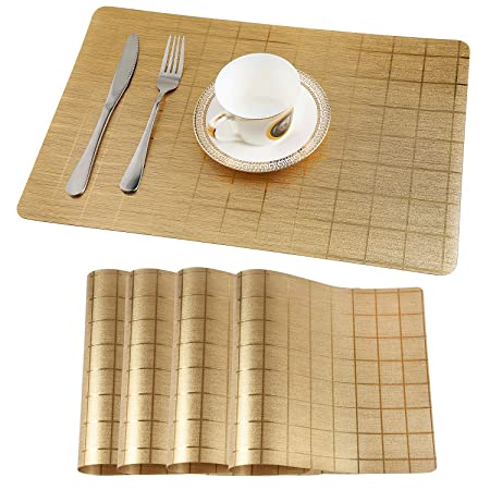 Teskyer Tischset Abwaschbar Platzsets 4 Stück 100