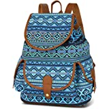 Vbiger Canvas Backpack Casual School Bag Travel Daypack for Girl