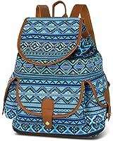 Vbiger Canvas Backpack Casual School Bag Travel Daypack for Girl