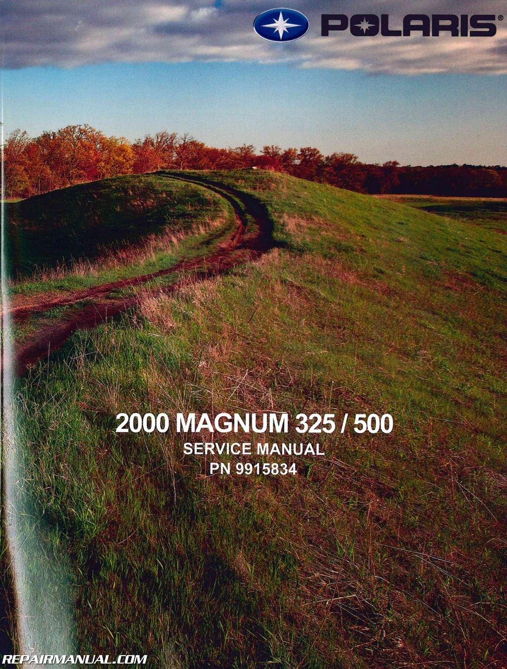 9915834 2000 Polaris Magnum 325 500 ATV Service Manual: Manufacturer:  Amazon.com: Books