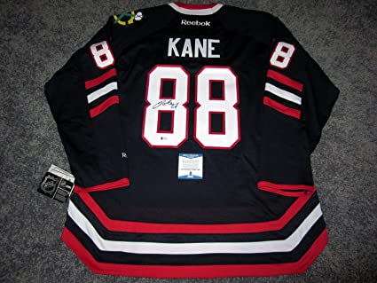 37126166779 Image Unavailable. Image not available for. Color: Patrick Kane Signed  Jersey - w BAS COA New XL - Beckett Authentication - Autographed NHL
