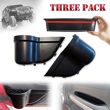 JOINT STARS Jeep JK Grab Tray Passenger Storage Tray Organizer /& DoorPocket Front Door Storage Pockets for 2011-2018 Jeep Wrangler JK JKU Black Interior Accessories