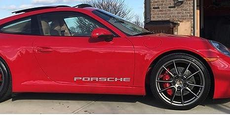 Amazon com: Porsche Door Decals (Light Gray) 30 INCH: Automotive