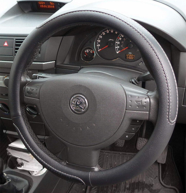 UKB4C Black//Grey Steering Wheel Cover