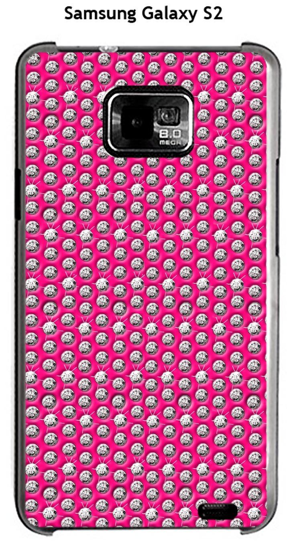 Onozo Carcasa Samsung Galaxy S2 diseño Diamantes Sobre Fondo ...