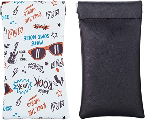 Eyeglasses Pouch 2PACK Sunglasses bag spectacle pouch with Cleaning Cloth