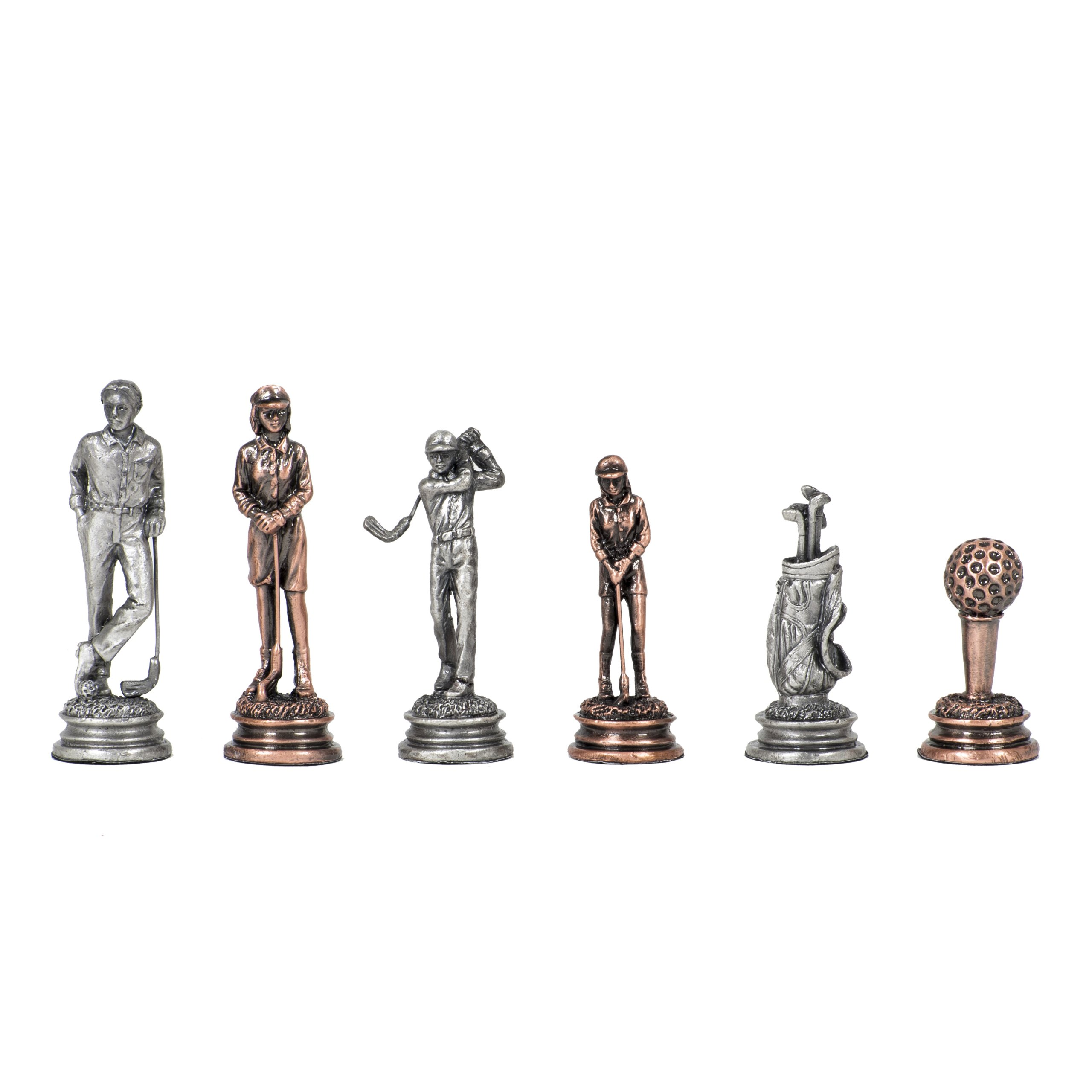 Wood Expressions WE Games Golf Chessmen - Pewter