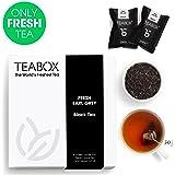 Teabox Earl Grey Black Tea, 16 Teabags   100% Natural Fresh Black Tea with Bergamot Oil   Premium Black Tea with Brisk Citrus Flavors   Sealed-at Source Freshness from India