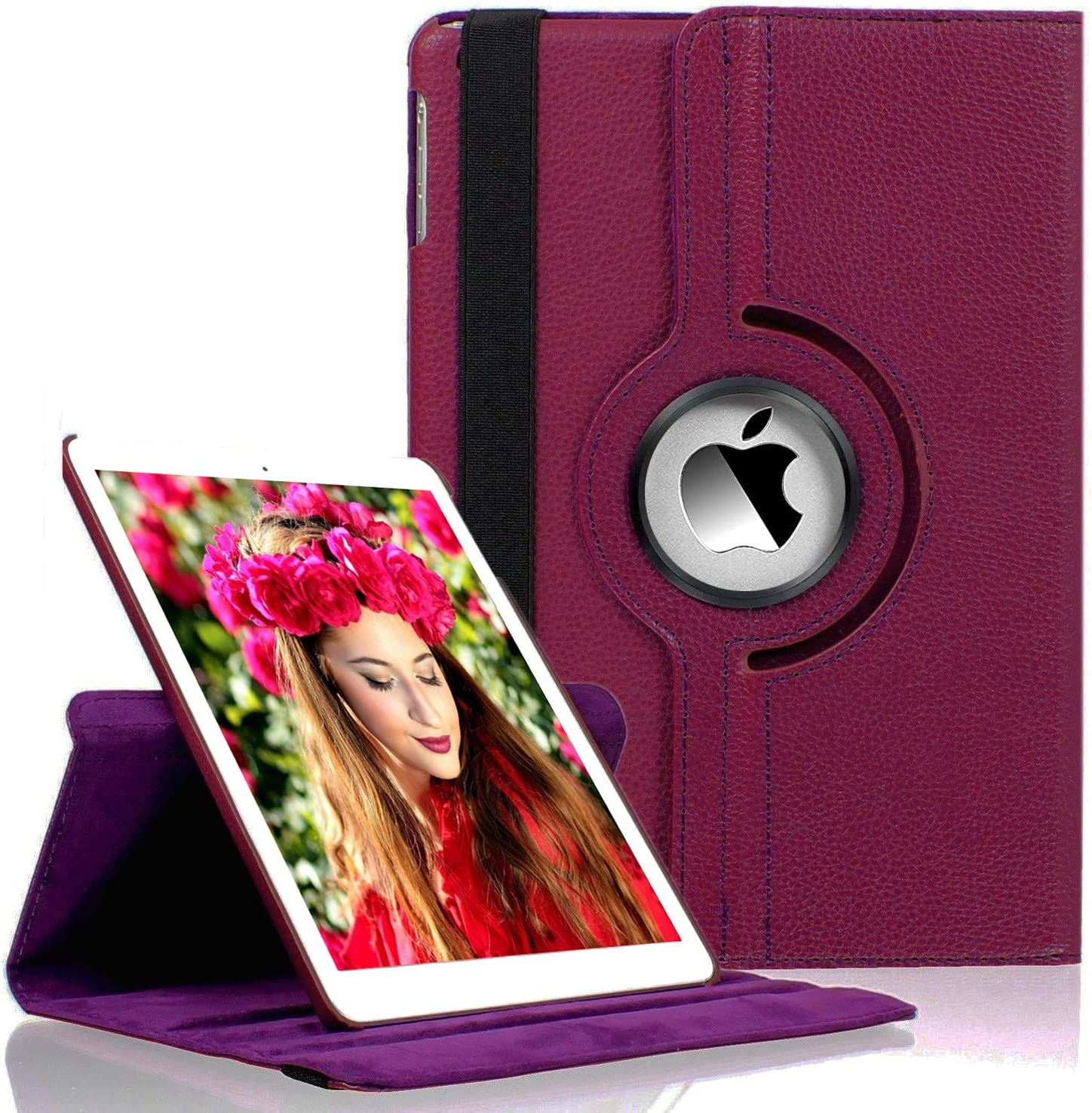 LayYun New iPad 10.2 Case Fit iPad 10.2 (2019) 7th Generation - 360 Degree Rotating iPad 7th Generation Case Cover with Auto Wake/Sleep Compatible with Apple iPad 10.2 Inch 2019 (Purple)