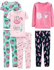 Simple Joys by Carter's Baby, Little Kid, and bebé Girls' Juego de Pijama de algodón de Ajuste cómodo de 6 Piezas