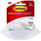 Command Soap Dish, Frosted Plastic, Holds 2 lbs, 2 packs (2 Dishes and 4 Strips total), BATH14-ES