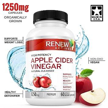 Apple Cider Vinegar Supplement Capsules All Natural Vegan Acv Pills Weight Loss Detox And