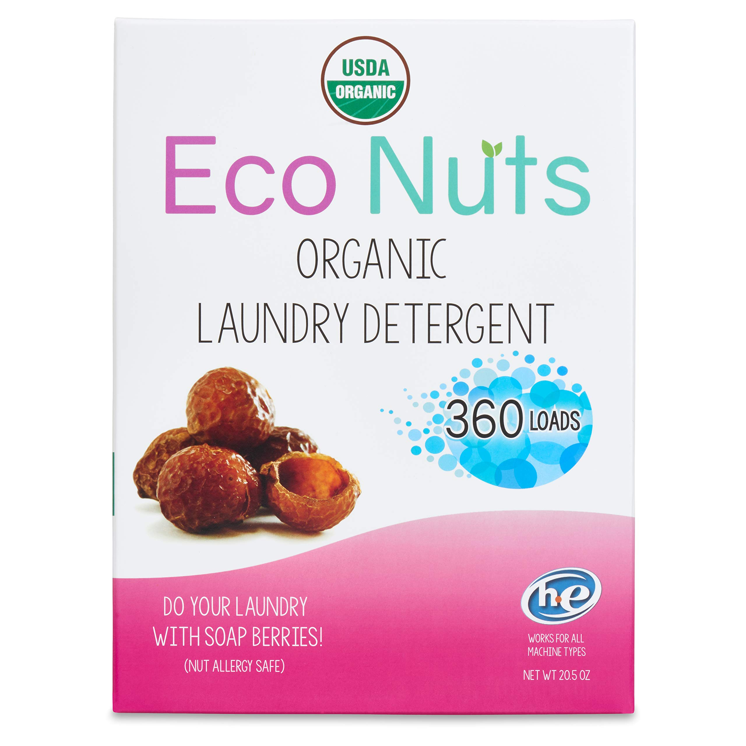 Eco Nuts USDA Organic Laundry Detergent, 20.5 Ounces for 360 Loads by Eco Nuts
