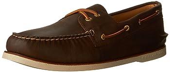 Top-Sider Men's Gold A/O 2-Eye Brown Boat Shoe 10 M (D)
