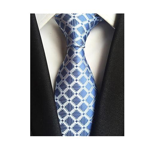 5cad826eef51 DEITP Men's Checks Blue Paisley Ties Silk Jacquard Woven Suits Tie Floral  Necktie at Amazon Men's Clothing store: