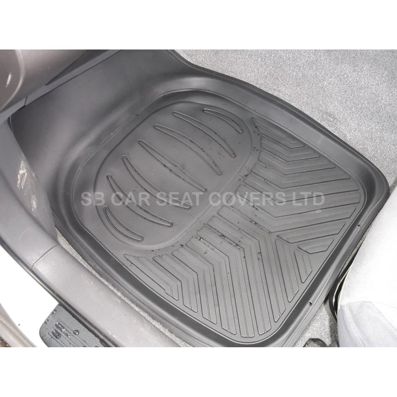 Rubber floor mats denver - Honda Crv Hrv Crz Car Floor Mats Deep Tray Rm500 Black 4 Piece Pvc