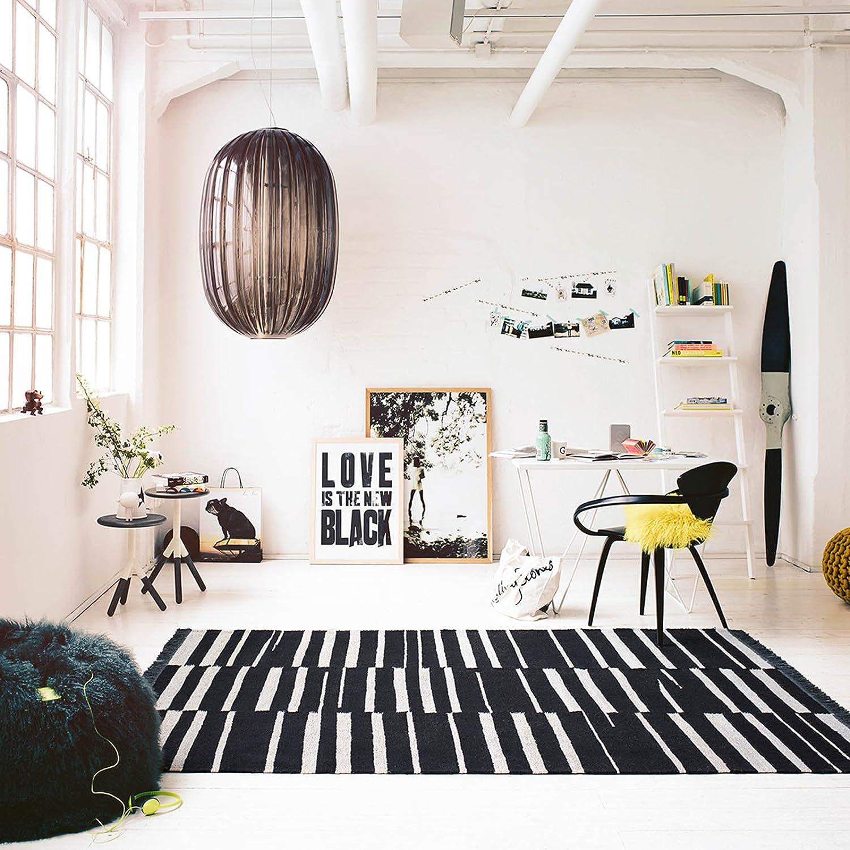 Carpets & Co. Skid Marks Moderner Markenteppich, Hanf Schurwolle, Natur, 150 x 80 x 0.5 cm