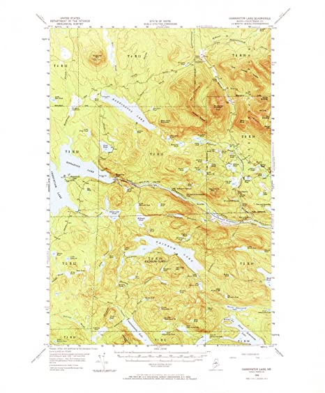 Harrington Maine Map.Amazon Com Yellowmaps Harrington Lake Me Topo Map 1 62500 Scale