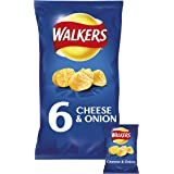 Walkers Cheese & Onion Crisps, 25g (6 Pack)