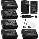 UltraPro 5-Pack LP-E17 High-Capacity Replacement Battery with Rapid Travel Charger Bundle