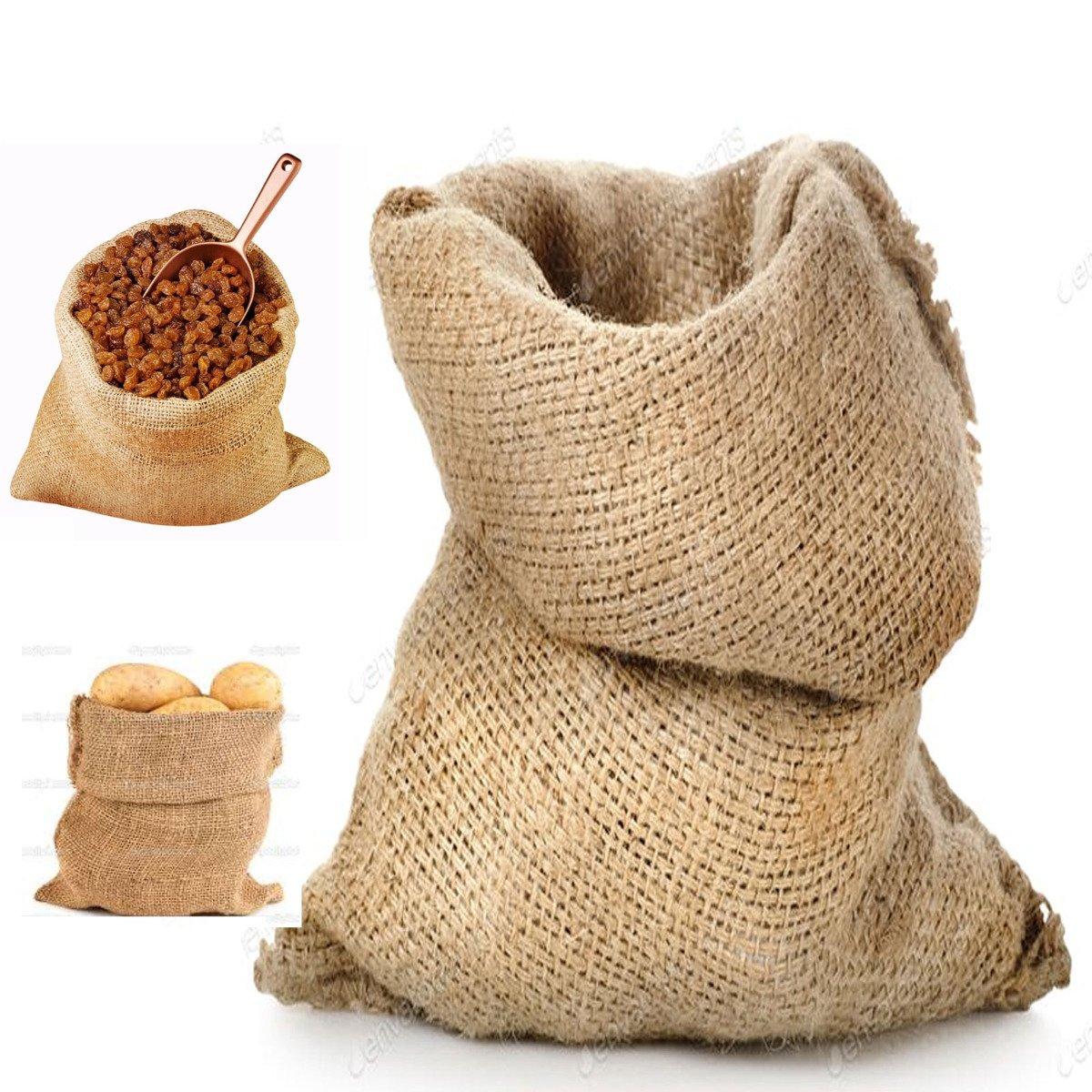 Sacco Juta 40x70 neutro naturale caffè cereali tela yuta regali 1 pezzo STI