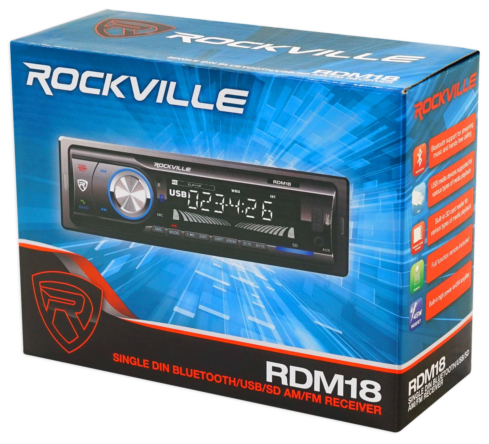 Car Digital Media Bluetooth AM/FM/MP3 USB/SD Receiver For 2003-2007 Honda Accord by Rockville (Image #8)