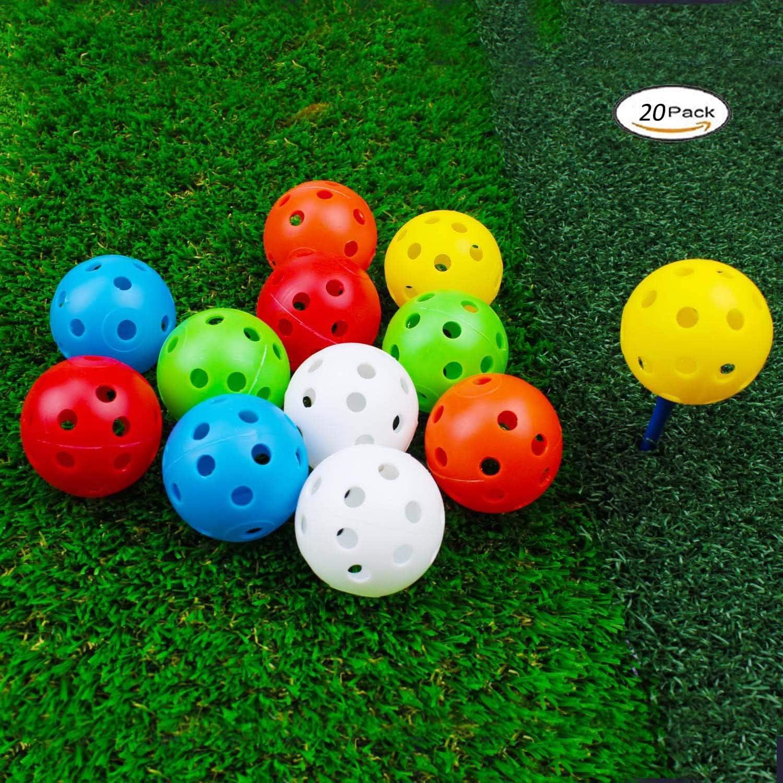 GOGO 240 Pack Plastic Golf Balls Airflow Hollow Practice Ball Bulk 42mm