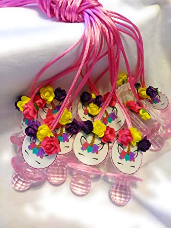 Amazon.com: 12 unidades de collares de unicornio para bebés ...