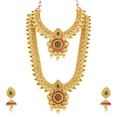 146740253e Buy Apara Copper Bridal South Indian Traditional Necklace Jewellery Set  Combo for Women Online at Low Prices in India | Amazon Jewellery Store -  Amazon.in