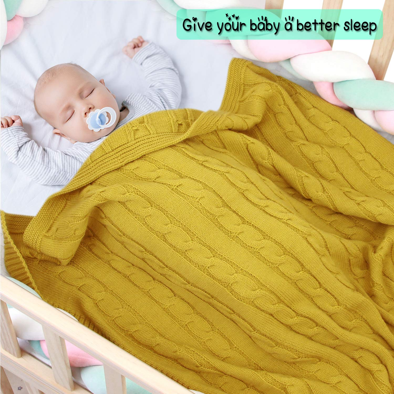 Hand crocheted Cálido Manta de bebé//asiento de coche//cochecito//Cuna Amarillo Marfil y Gris Niño Niña