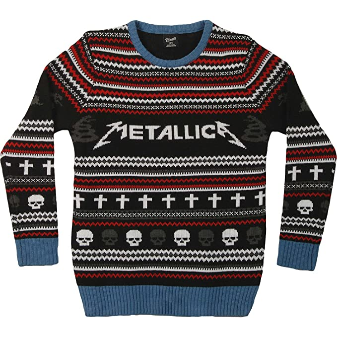 metallica mens mop ugly xmas sweater sweatshirt large black - Metallica Christmas Sweater