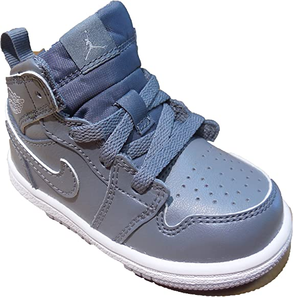 huge selection of f44f4 fc0be TODDLER JORDAN 1 MID BT SHOES COOL GREY WOLF GREY WHITEA SIZE 10