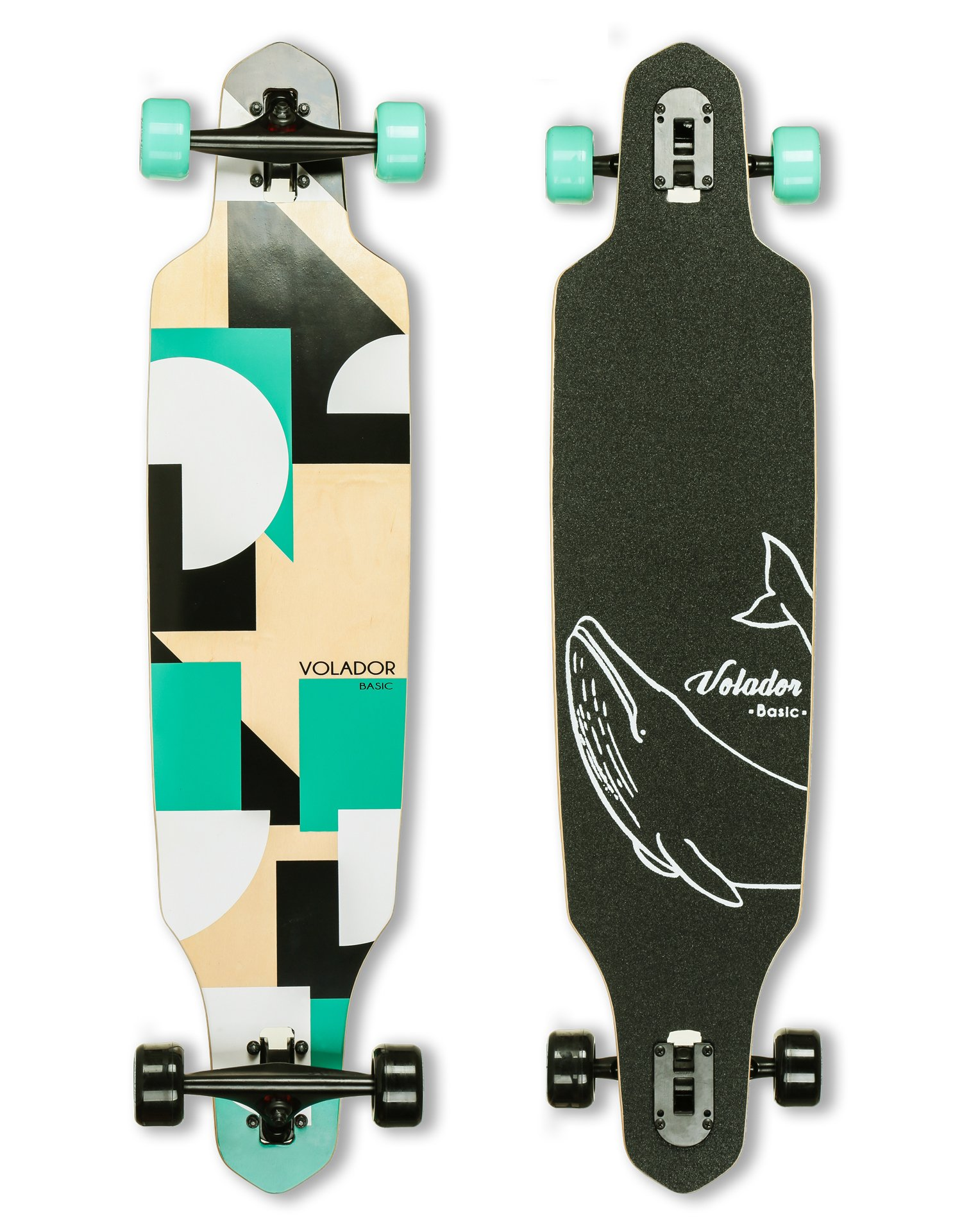 VOLADOR 40inch Maple Longboard - Basic Cruiser (Turquoise)