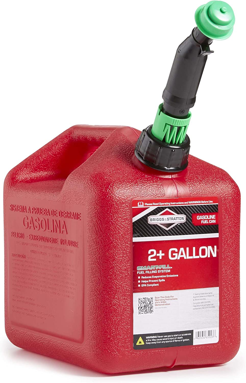 Briggs /& Stratton Smart-Fill 2 Gallon Gas Can