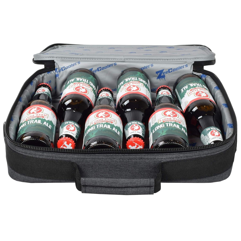 6-Bottle Thin Cooler ZeeCoolers Slim Cooler Hide Beer Wine 6+ Hours Cold 10-Can Renewed