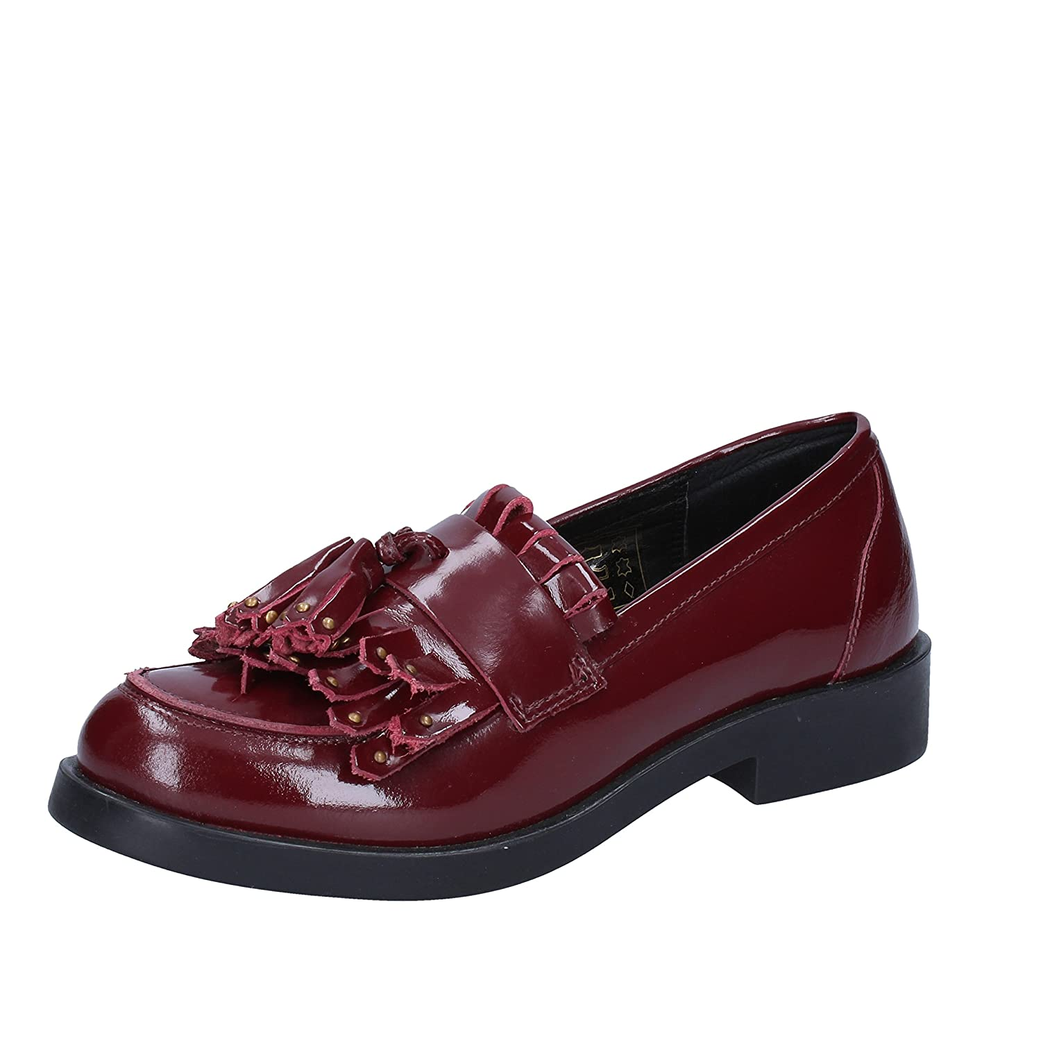 EMANUELLE VEE Loafers-Shoes Womens Leather Purple