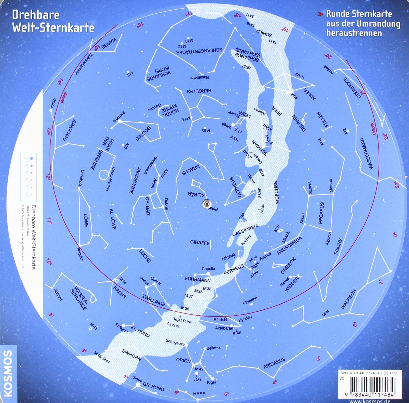 Drehbare Welt Sternkarte Für den nördlichen und südlichen ...