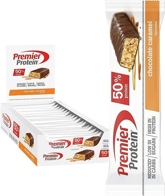 Premier Protein Protein Bar Chocolate Caramel 24x40g - Barras de Proteína con Bajo Contenido de Azúcar: Amazon.es: Salud y cuidado personal