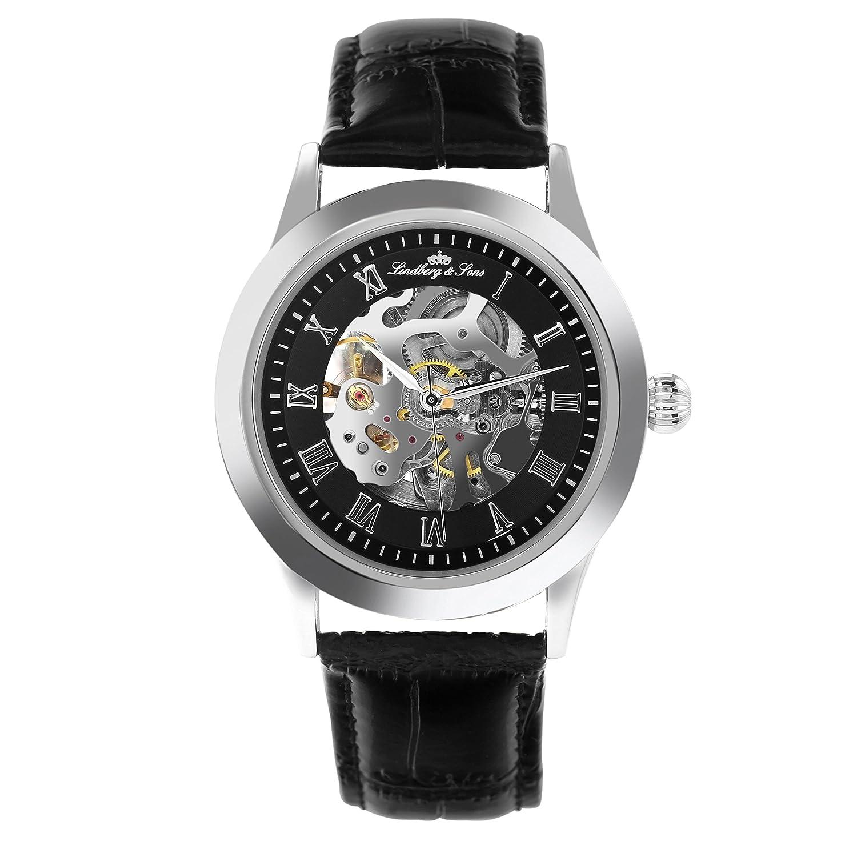 BoscÉ Herren-Armbanduhr Analog Quarz Leder BO-T22035-23SRG