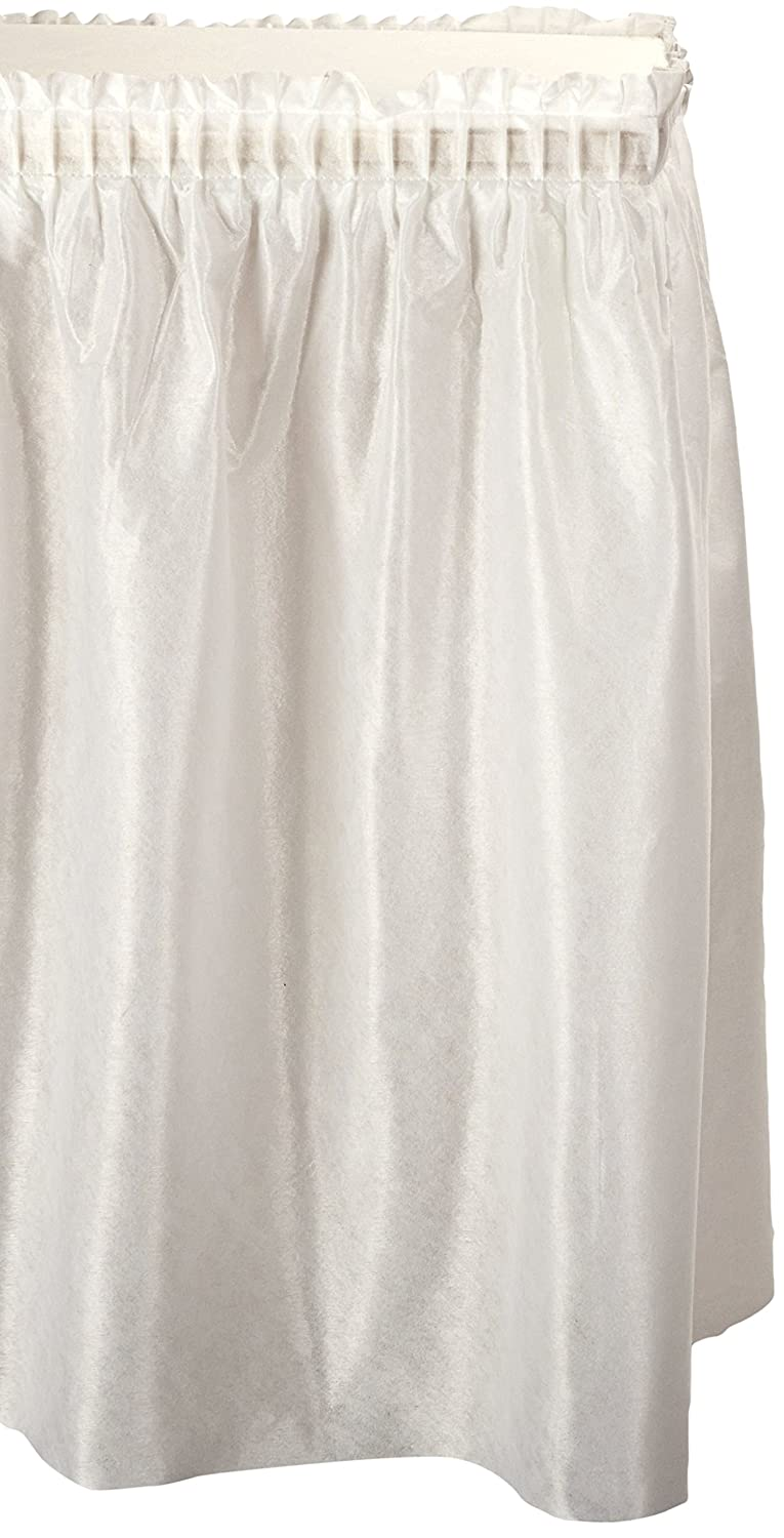 Table Set Linen-Like Table Skirting, 29' x 14', White 29 x 14' Tablemate TBLLS2914BK