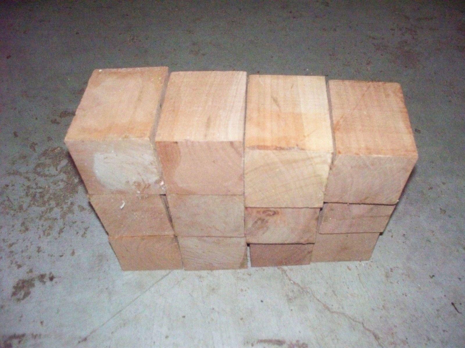 12 Cherry Bottle Stopper Blanks Lathe Wood Blocks Lumber